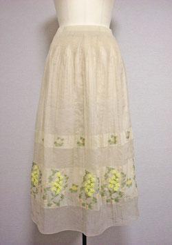 商品番号IS-8559-7W 透けボーダー花柄パネルスカート