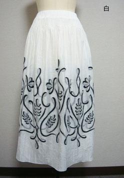 商品番号IS-5178  テープ刺繍柄スカート