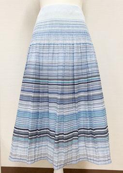 【新着】商品番号IS-9820-2W ボーダー柄スカート(ブルー系)