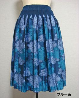 商品番号IS-9064-1W 2色出し花柄スカート(ブルー)