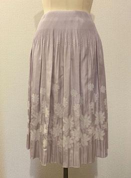 商品番号IS-8652-5US  花柄スカート(ライトパープル)
