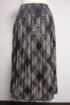 商品番号IS-8209-3W-BR バイヤスチェック柄スカート(ブラウン)