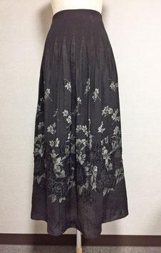 商品番号IS-4340  表カットバラ柄スカート