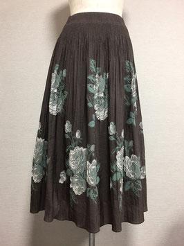 商品番号IS-4701 バラ柄スカート