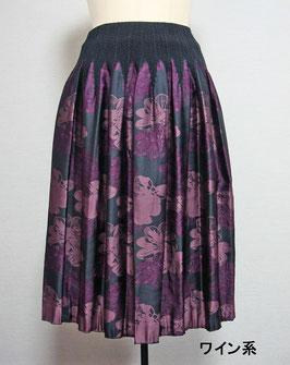 商品番号IS-9064-1W 2色出し花柄スカート(ワイン)