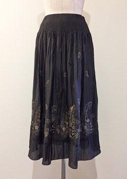 商品番号IS-6452  3色ペイズリーボーダー柄スカート