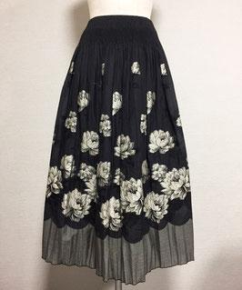 商品番号IS-7097 バラ柄パネルスカート