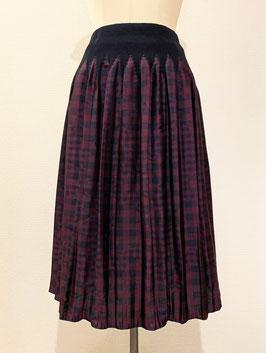 【新着】商品番号IS-9764-6US ギンガムチェック柄スカート(ワイン)