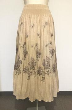 商品番号IS-5944-BG ぼかし花柄スカート(ベージュ)