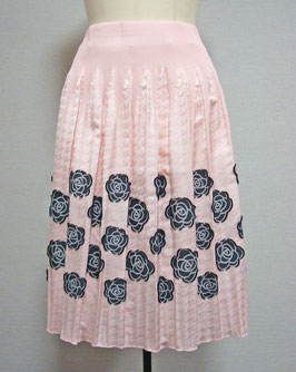 商品番号IS-8646-5US 千鳥にバラ柄スカート