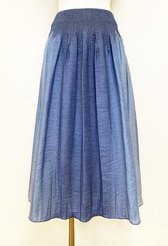商品番号IS-9836-7W ストライプボカシカットスカート