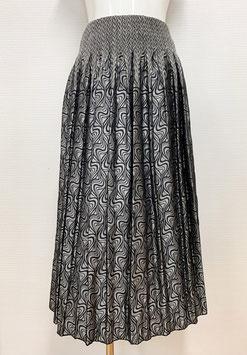 商品番号IS-9341-6US-S マーブル調柄スカート(シルバー)