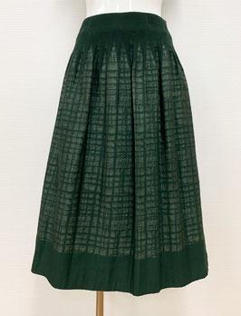 商品番号IS-9058-6US-S ツイード調柄スカート(グリーン)