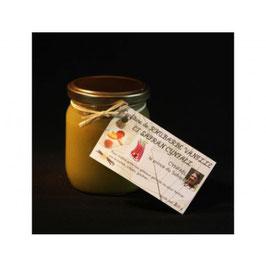 Confiture de rhubarbe-vanille au safran Cynfaël