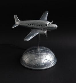 Flieger-Tischlampe ähnlich einer DC3 im Art Deco Stil