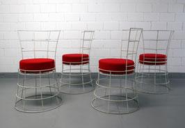 4er-Set Mid Century Modern Gartenstühle