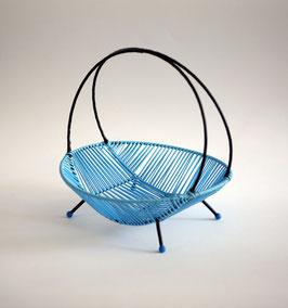 Hellblaue String-Schale aus den 50er Jahren