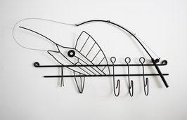 Garderobe Schwertfisch-Drahtfigur