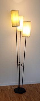 Dreiarmige 50er Jahre Ständerlampe