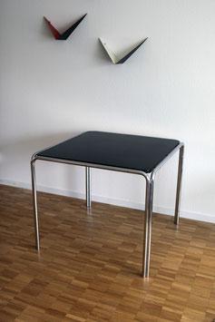 Stahlrohr Tisch quadratisch, ca. 40er Jahre