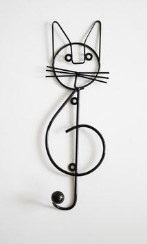 Wandhaken Katze-Drahtfigur