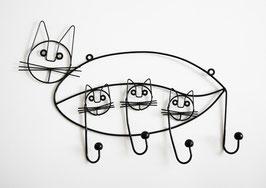 Garderobe Katze-Drahtfigur