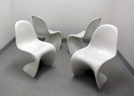 Frühe Verner Panton Chairs aus Baydur (total 4 Stück vorhanden)