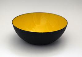 Grosse, runde, gelbe Krenit Schale von Herbert Krenchel