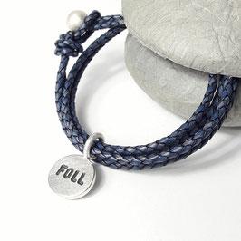 Wickelarmband FOLL blau
