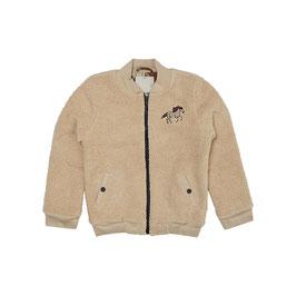 Wild Horse teddy bomber jacket wt embroidery,