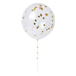 Ballon Confetti gold