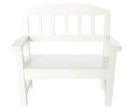 Wooden bench white (NEU)