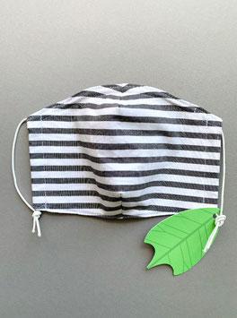 Stoffmaske blackstripe L Erwachsene