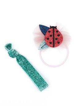 Ladybug hair elastic pack