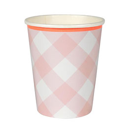 Becher Pink Gingham