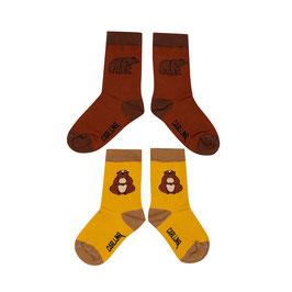 Socks Set alpine marmot and grizzly