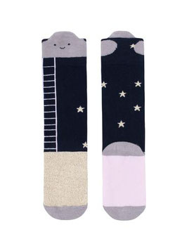 Kniesocken Navy reach for the stars