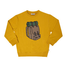 Backpack - sweater wt print (yellow)