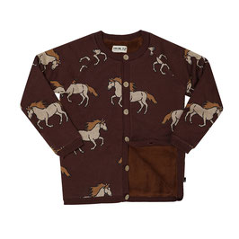 Wild Horse - knitted cardigan wt teddy lining, knit