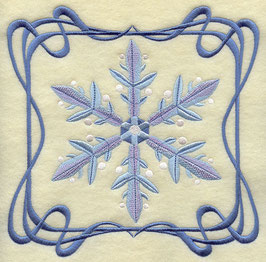 Four Seasons Nouveau Tile - Winter Snowflake