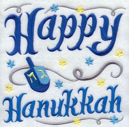 Happy Hanukkah with Dreidel