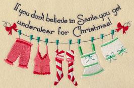 Believe in Santa Clothesline - Hers