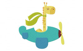 Giraffe in Plane