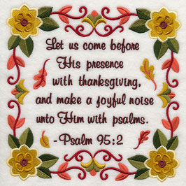 Let Us Come Before His Presence With Thanksgiving