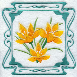 Four Seasons Nouveau Tile - Spring Flowers