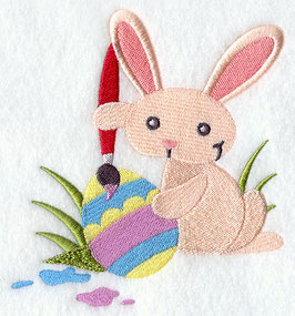 Egg-painting Bunny