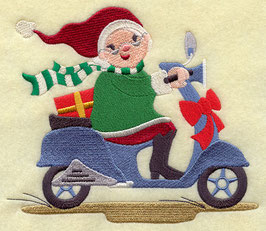 Italian Mrs. Claus on Scooter - Hers