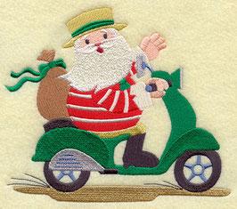 Italian Santa Claus on Scooter - His