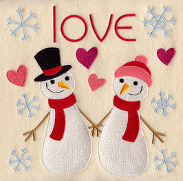 I Love Snowmen Square