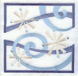 Swirling Snowflake Square